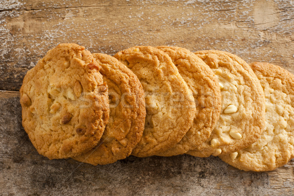 Homemade Macadamia Cookies on Wooden Table Stock photo © photohome