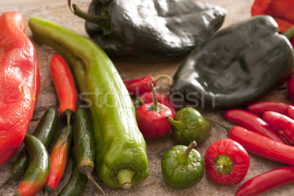 Groot hot jalapeno cayenne Stockfoto © photohome