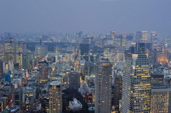 Tokio noche vista metrópoli Japón anochecer Foto stock © photohome