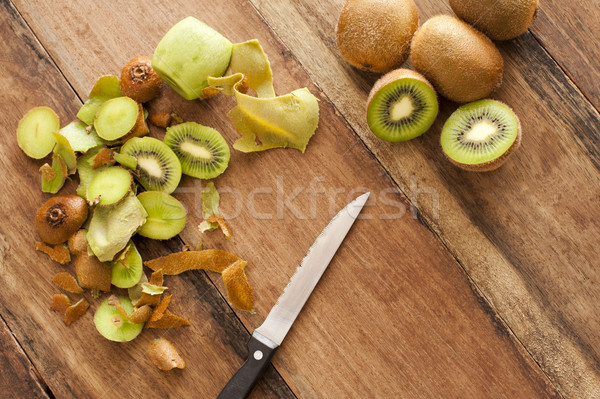 Preparing kiwifruit for a delicious dessert Stock photo © photohome