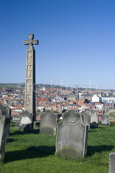 Caedmons Cross, Whitby Stock photo © photohome