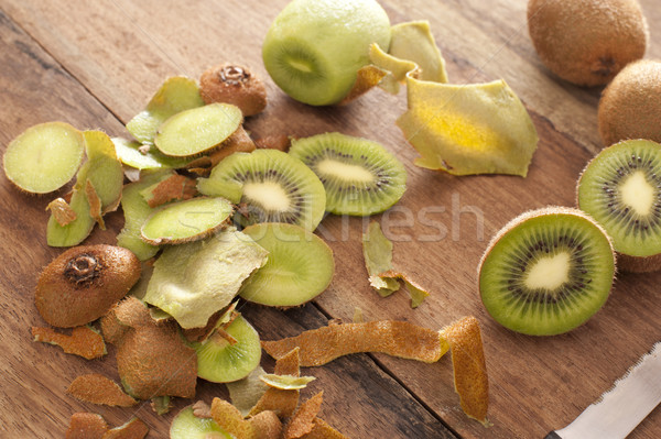 Preparing a tropical kiwifruit dessert Stock photo © photohome