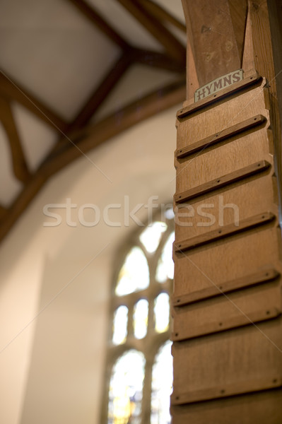 church hymn board Stock photo © photohome