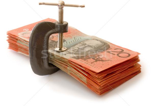 Stock fotó: Pénz · sajtó · ausztrál · bankjegyek · piros · pénzügy