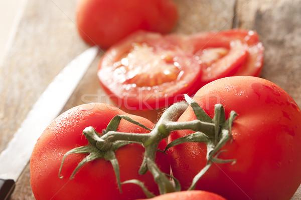 表示 ジューシーな 赤 トマト つる ストックフォト © photohome