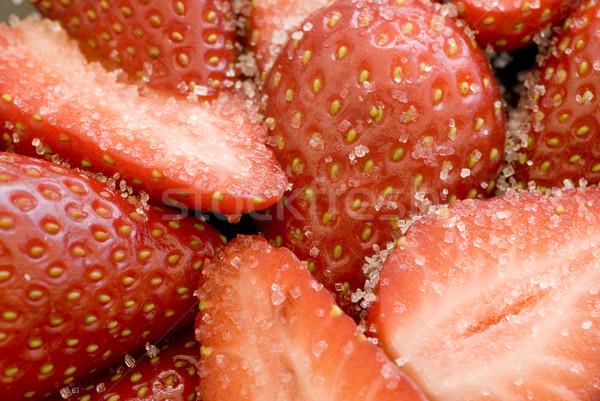 Azúcar fresas cubierto blanco Foto stock © photohome