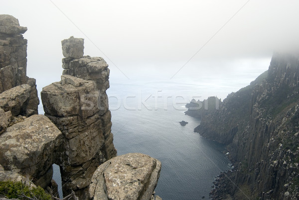 Dolerite Cliffs Cape Pillar Stock photo © photohome