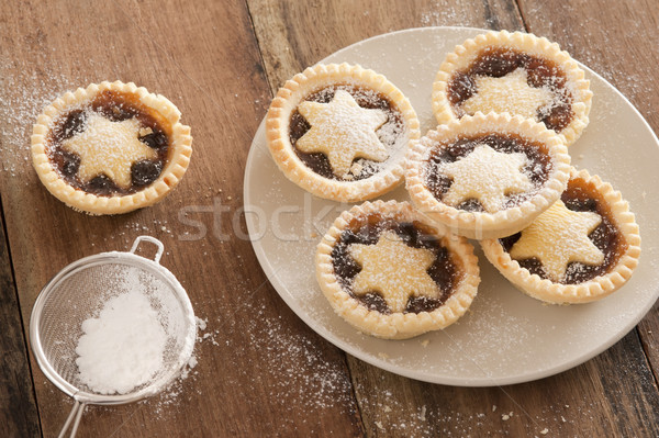 Delicious Christmas mince pies with stars Stock photo © photohome