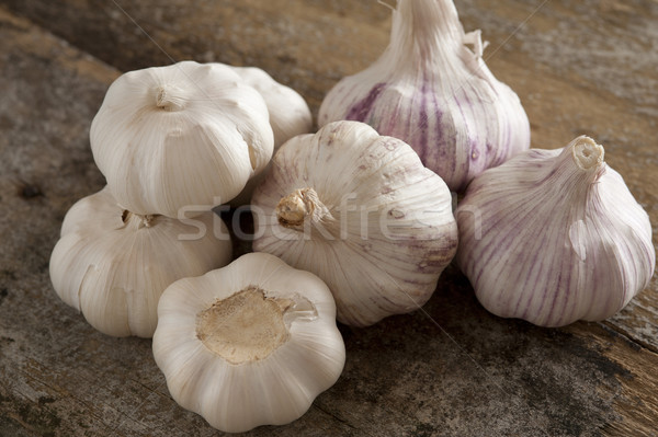 Set of picked garlic bulbs Stock photo © photohome