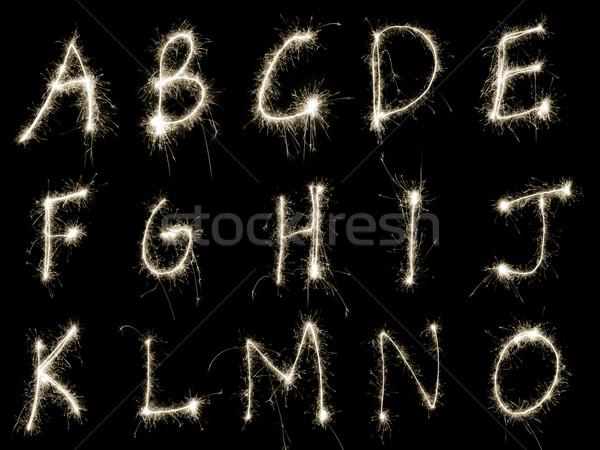 Sparking Alphabet AtoO Stock photo © photohome