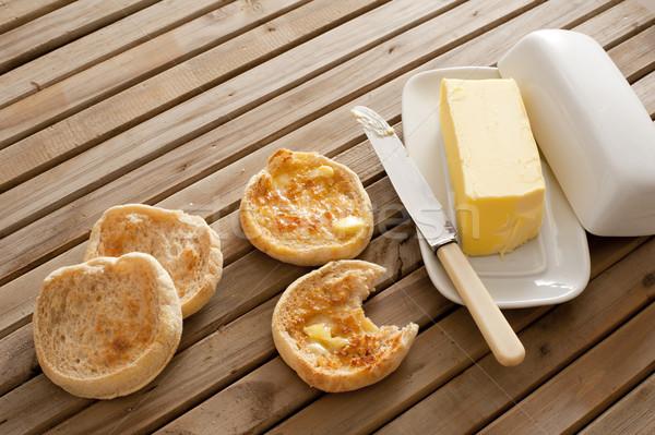 Fresh toasted hot English muffins Stock photo © photohome
