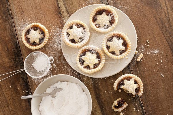 Baking Christmas mince pies Stock photo © photohome