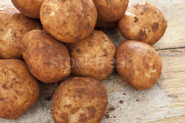 Frissen egész friss krumpli kosz köteg Stock fotó © photohome