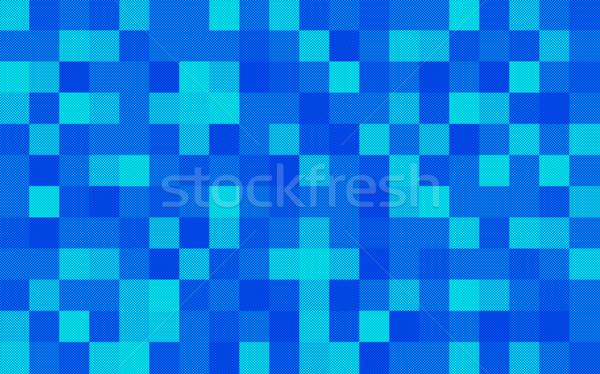 Halftone négyzetek kék háttér tér Stock fotó © photohome