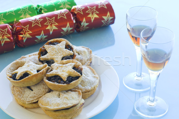 Mince pies and Sherry Stock photo © photohome