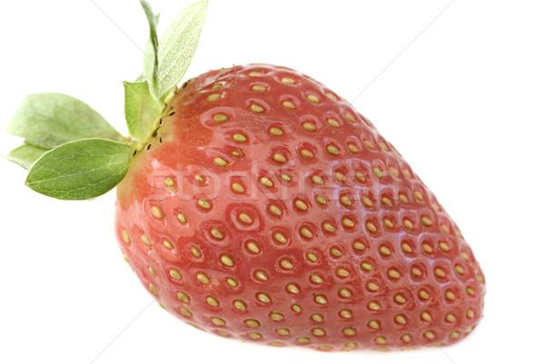 Single luscious ripe red strawberry Stock photo © photohome