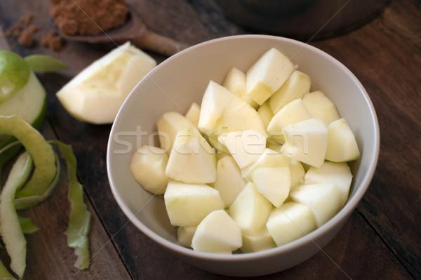 Hozzávalók alma mártás friss zöld főzés Stock fotó © photohome