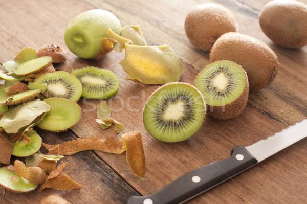 Frescos kiwi frutas preparado postre primer plano Foto stock © photohome