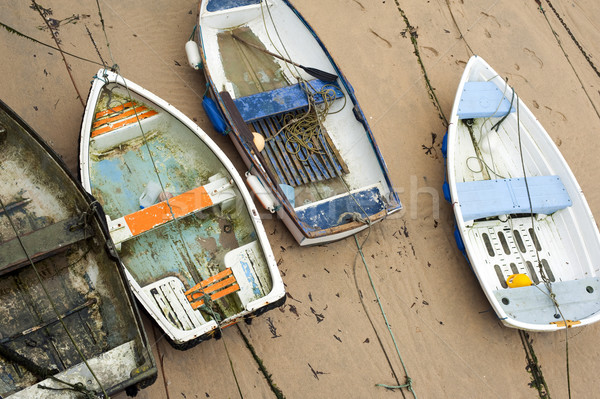 Small wooden boats in St Ives harbour Stock photo © photohome