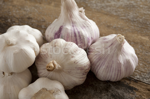 Group of fresh garlic bulbs Stock photo © photohome