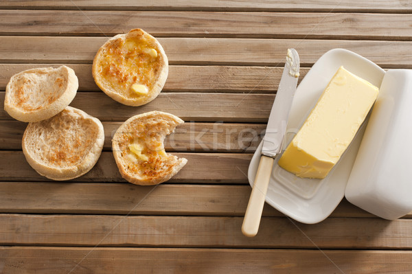 Crumpets and butter Stock photo © photohome