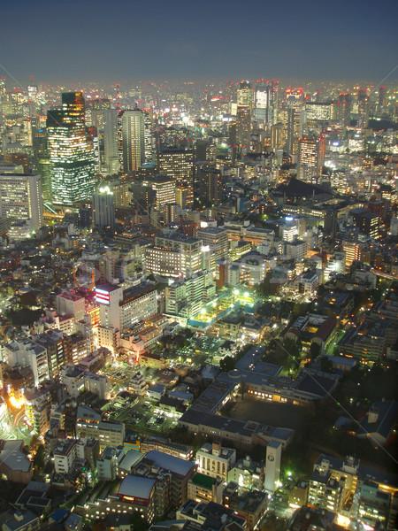 Tokió fölött kilátás alkonyat égbolt naplemente Stock fotó © photohome