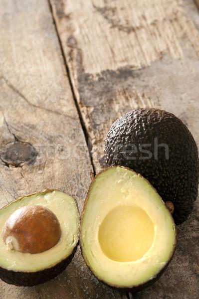 Olgun avokado armut rustik tablo bütün Stok fotoğraf © photohome