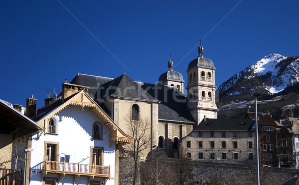 christian basilica with tower Stock photo © Photoline