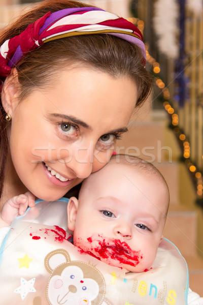 Matka syn rok starych Zdjęcia stock © Photoline
