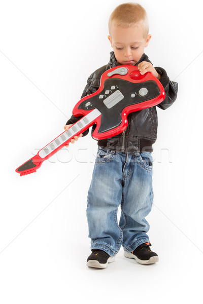little rocker boy with his guitar Stock photo © Photoline
