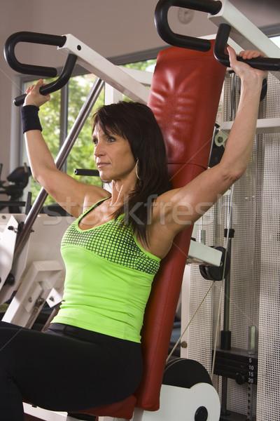 Dość kobiet siłowni kobieta fitness pokój Zdjęcia stock © Photoline