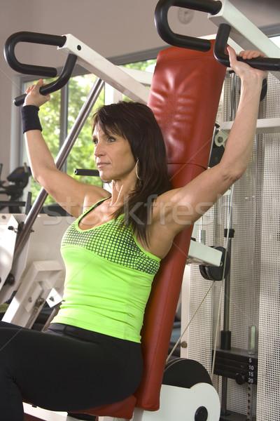 Csinos nők tornaterem nő fitnessz szoba Stock fotó © Photoline