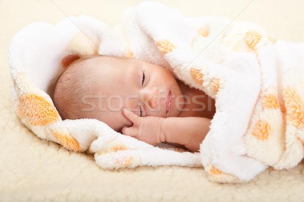 Baby głowie miękkie koc oczy Zdjęcia stock © Photoline