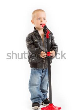 Nie opis baby dziecko mikrofon rock Zdjęcia stock © Photoline
