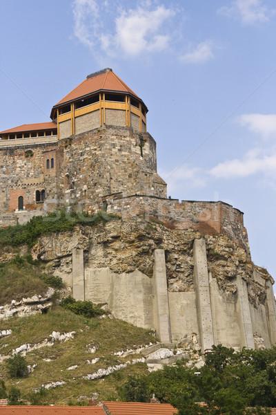 Zamek Węgry Błękitne niebo biały chmury budynku Zdjęcia stock © Photoline