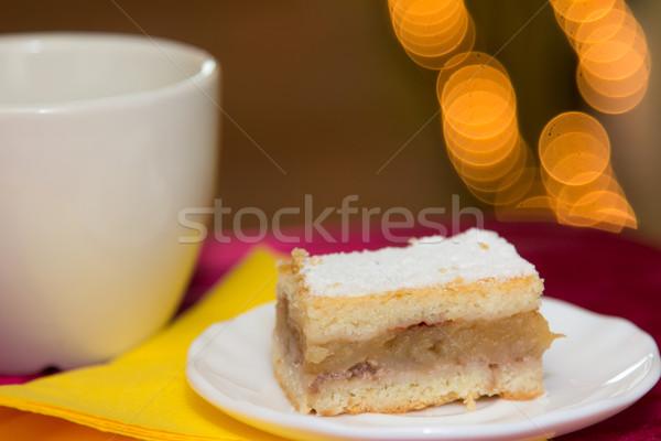 Húngaro maçã torta de maçã fatia natal bolo Foto stock © Photoline