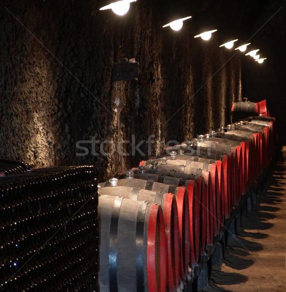 Barrels in a wine-cellar Stock photo © Photoline