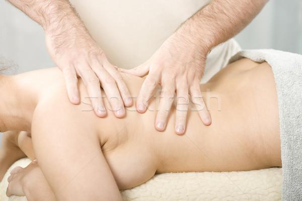 Corpo massaggio rilassante nice signora mano Foto d'archivio © Photoline