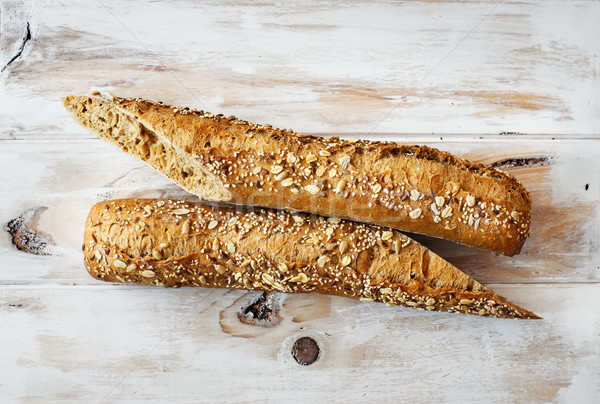 Loaf of rye and seed wholemeal. Stock photo © Photooiasson