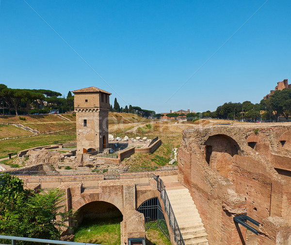Circus Maximus in Palatine hill of Rome. Lazio, Italy. Stock photo © Photooiasson