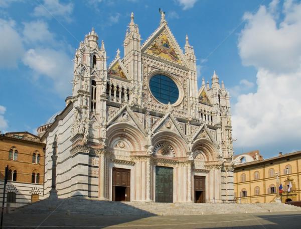 Facade of the Siena Duomo. Tuscany, Italy Stock photo © Photooiasson