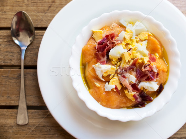 Salmorejo. Typical spanish dish. Stock photo © Photooiasson