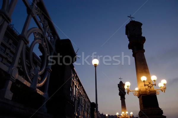 Sín tipikus szimbólum tengerpart város nap Stock fotó © Photooiasson