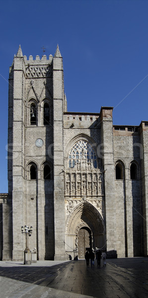 Cathedral of Avila in Spain. Principal front entry Stock photo © Photooiasson