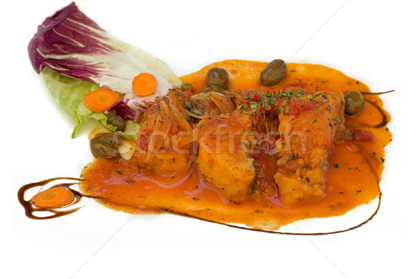 オリーブ ソース 典型的な 皿 シチリア島 黒 ストックフォト © Photooiasson