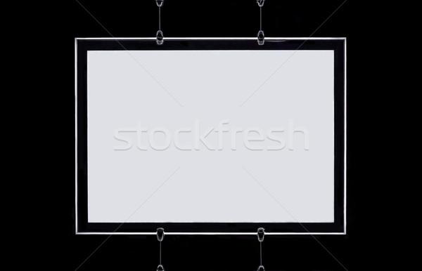 Moderne witte frame zwarte muur communicatie Stockfoto © Photooiasson