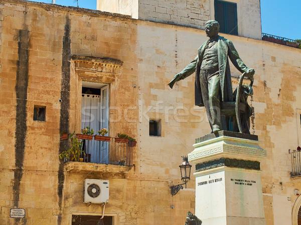 Monument to Sigismondo Castromediano in Lecce. Puglia, Italy. Stock photo © Photooiasson