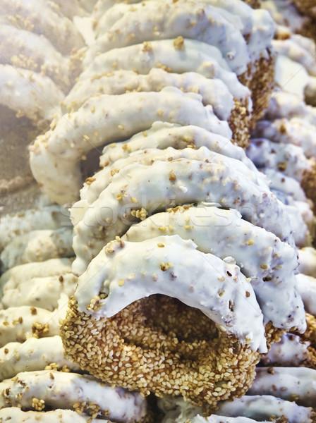 Típico grego gergelim doce estilo pão Foto stock © Photooiasson