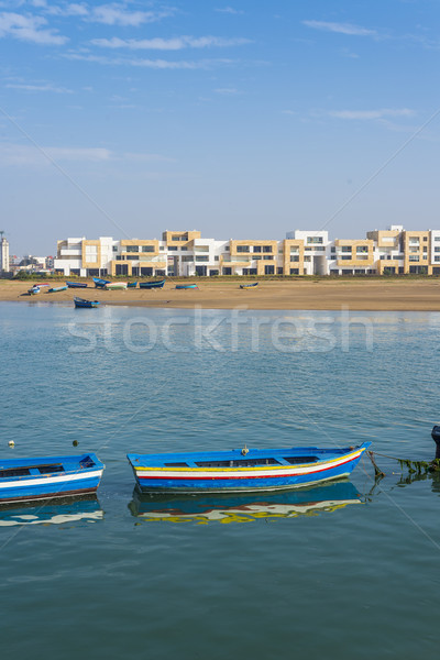 Fishing boats on the Bou Regreg river in Rabat port. Stock photo © Photooiasson