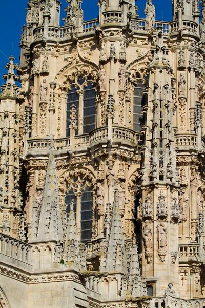 Gothique dôme visage cathédrale Espagne bâtiment Photo stock © Photooiasson